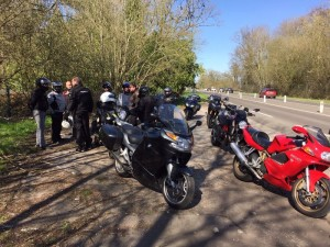 Balade au circuit de rouen les essarts. mars 2019. Organisée par Cédric.